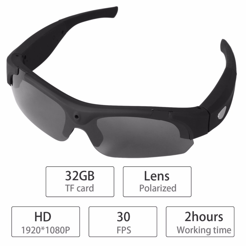 1080P HD Interchangeable Polarized-lenses Sunglasses Camera Video Recorder Sport Sunglasses Camcorder Eyewear Video Recorder