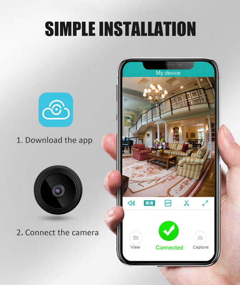 Mini Cam WIFI IP Camera A9 FULL HD 1080P Night VisionWireless Micro webcam Camcorder Video Recorder Support Remote View TF card