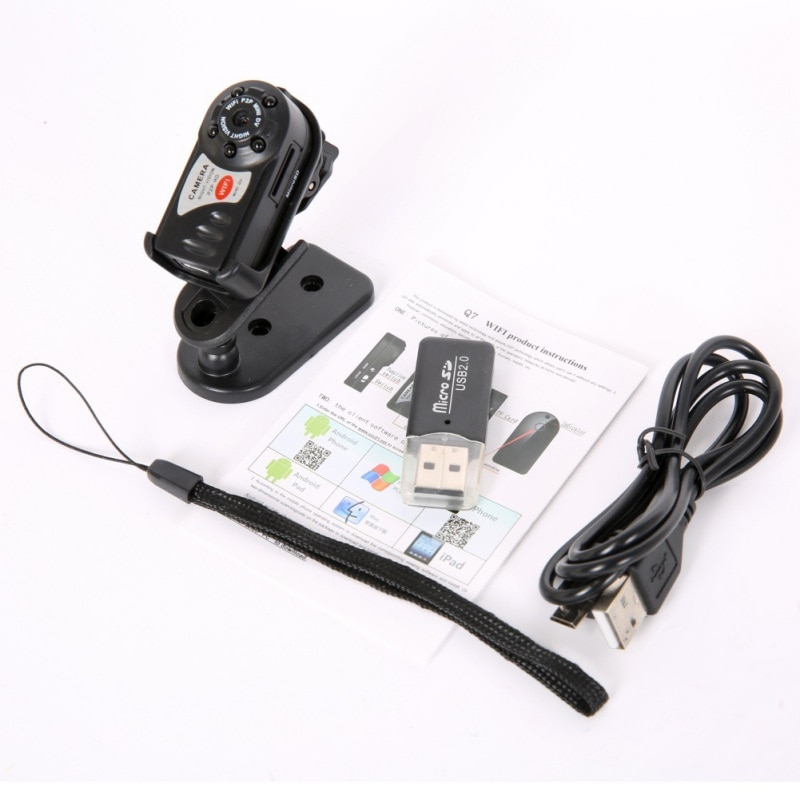 Mini Q7 Camera 480P Wifi DV DVR Wireless IP Cam Brand New Mini Video Camcorder Recorder Infrared Night Vision