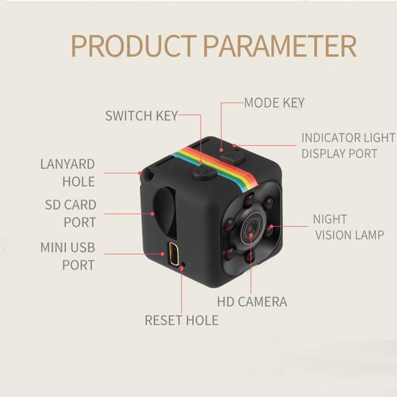 New SQ11 HD 480P Mini Camera Sensor Night Vision Camcorder Motion DVR Micro Camera Sport DV Video Cam6