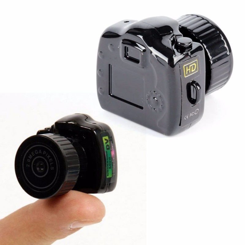 480P HD Portable Mini Camcorder Mini Camera Micro Motion Video Recorder DVR Web Cam TK58 Support SD TF Card Black Mini Camera