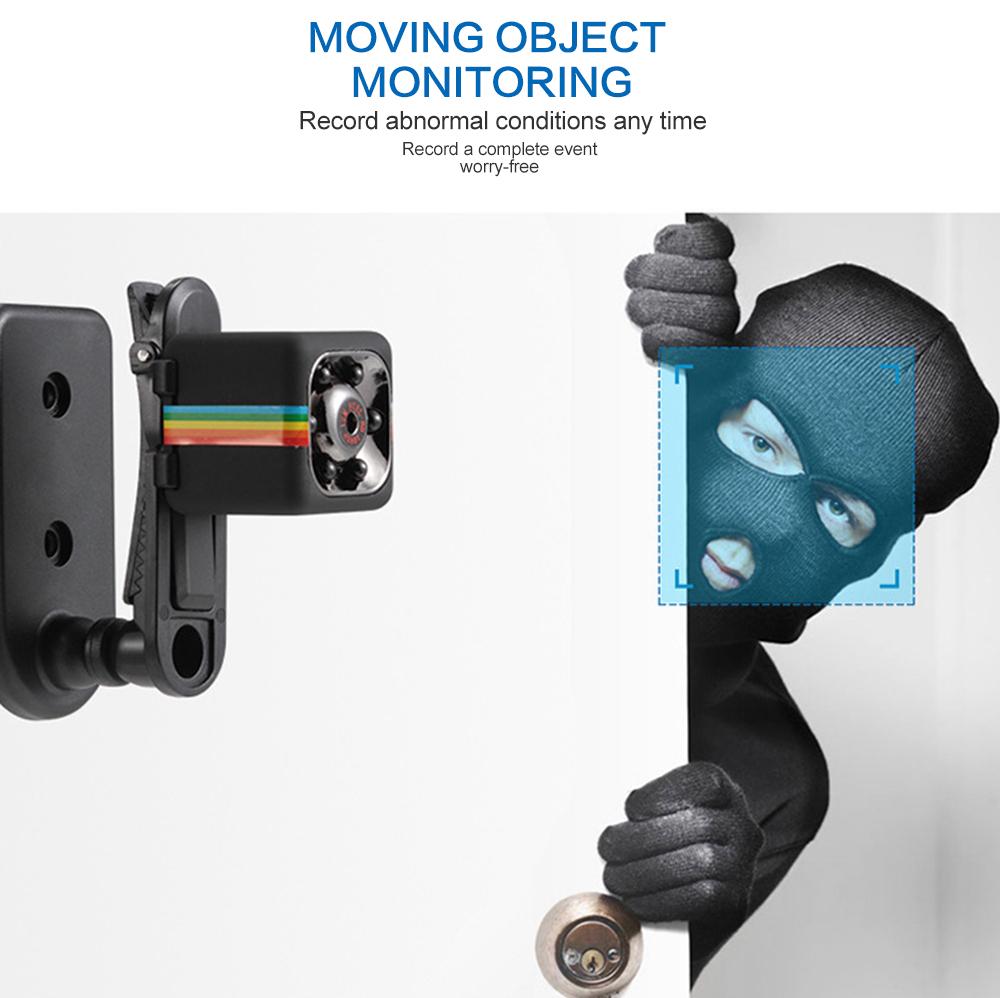 Mini Camera SQ11 Portable Full HD Camcorder 1080P Car DVR Motion Detection Loop Recording Multifunction IR Night Vision Camera