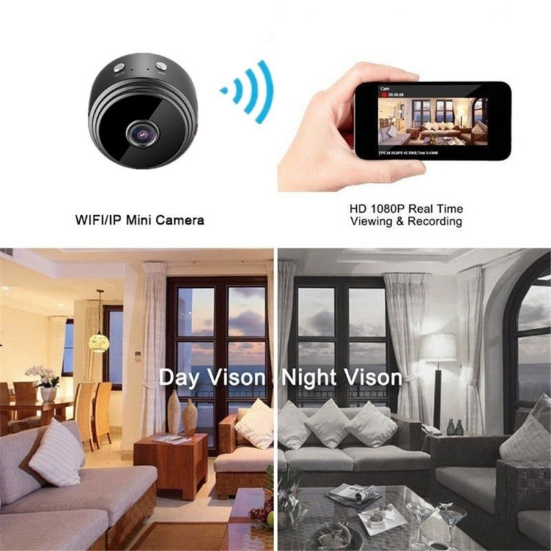 A9 Mini Full-HD 1080P Small Wifi Camera Wifi IP Mini Camera IR Night Vision Micro Camera Motion Detection Camera Support TF Card