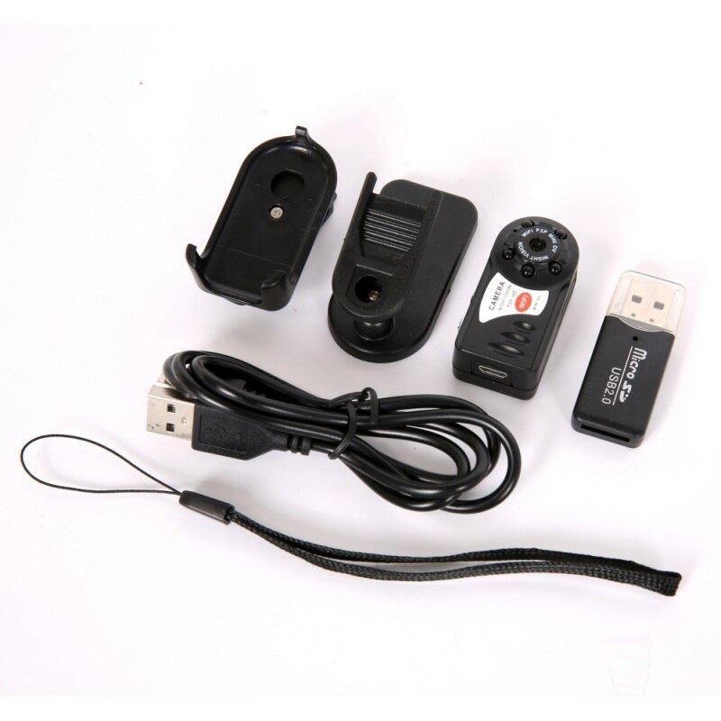 Mini Q7 Camera 480P Wifi DV DVR Wireless With Six Lights Mini Video Camcorder Recorder Infrared Night Vision Small Camera