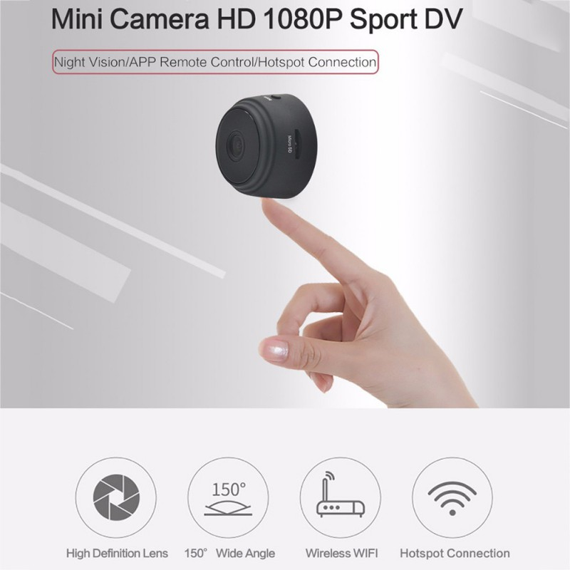 A9 Mini Camera 2.4G Wireless Wifi 1080P HD Night Vision Camera Home Security Camcorders APP Remote Monitor