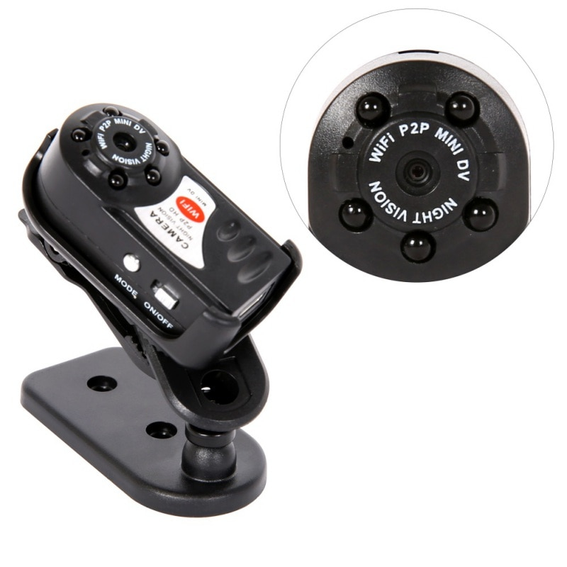 Hot Mini Q7 Camera 480P Wifi Infrared Night Vision With Six Lights 300,000 (dpi) Mini Camcorders Kits For Home Car Security CCTV