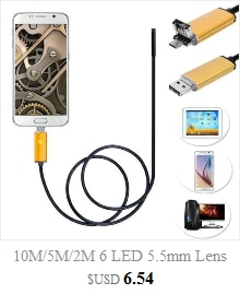 3 in1 Android USB Type-C  Inspection Endoscope Camera 7mm 6 LED HD Waterproof Borescope Probe Tool Kit 20A Drop Shipping