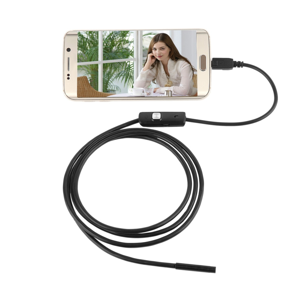 5.5mm 1/1.5/2/3.5/5M Focus Camera Lens USB Cable Waterproof 6 LED Mini USB Endoscope Inspection Camera For Android Drop Shipping