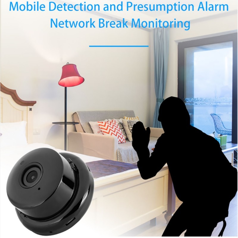 V380 Mini Wifi Camera 1080p IP Camera Wireless CCTV Infrared Night Vision Motion Detection 2-Way Audio Home Security Camcorders