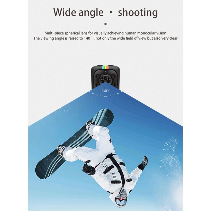 MD80 Mini Camcorder Support Net-Camera Mini DV Record Camera Support 8G TF Card 720*480 Vedio Lasting Recording Cam