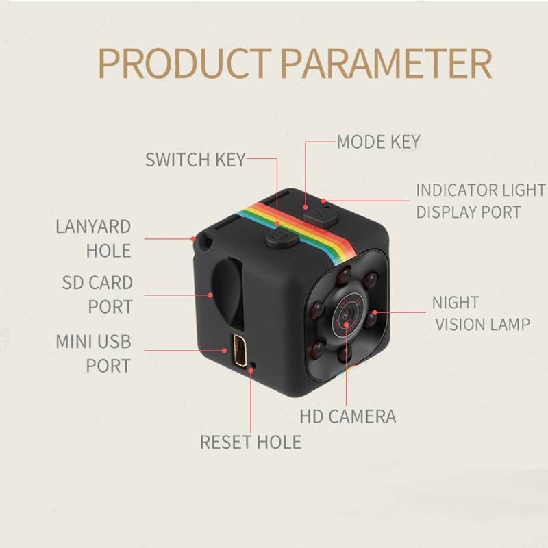 SQ11 Micro Camera 480P/1080P Mini Camera Sport DV Infrared Night Vision Camera Car DV Digital Video Recorder Camcorders