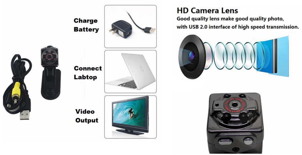 Antscope Mini Sport DV Camera 1080P HD Car DVR 12MP camcorder Mini Camera Video Cam Night Vision Wireless Body Tiny Minicamera30