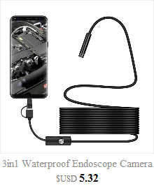 3in1 Android USB Type-C Endoscope Inspection 5.5mm Camera 6 LED HD Waterproof micro camera For smartphone 0J Drop Shipping