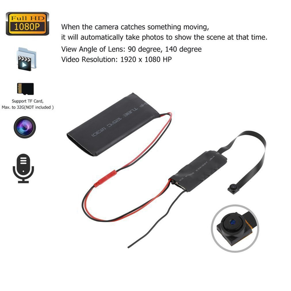 1080P Latest Wireless 2.4G Mini Camera Module Board DIY Camcorder Remote Control Home Security Mini Micro DVR Video
