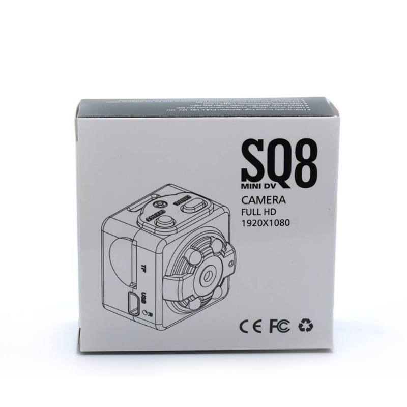 SQ8 Small Camcorder 720P / 1080P High Definition Night Vision Portable Video Recorder Sports DV Mini Camera Support 32G TF Card