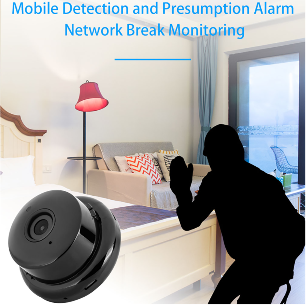 1080P Wifi Camera V380 Mini IP Camera Wireless Infrared Night Vision Motion Detection 2-Way Audio Motion Tracker Home Security